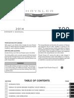 Chrysler 300 Manual 2014