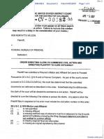 Wilson v. Federal Bureau of Prisons - Document No. 2
