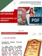 Reforma y Autonomía de Gestión