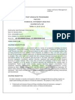 Course Outline FSA PGP Term IV 2015