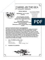 Special City Council Meeting Agenda Packet 07-15-15