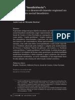 """Visões Da """"Insuficiência"""". O Nordeste e o Desenvolvimento Regional No Pensamento Social Brasileiro"""