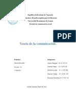 Teoria de La Comunicacion 2015