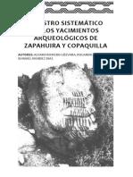 Registro sistemático de los yacimientos arqueológicos de Zapahuira y Copaquilla