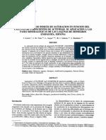 Variación de Los Índices de Saturación en Función de Cambios en Los Coeficientes de Actividad
