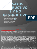 Diapositivas de Ensayo de Materiales - Ensayos Destructivos y No Destructivos