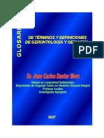 Glosario de gerontologia y geriatria