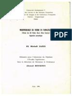Morphologie Du Verbe en Tamazight Haut Atlas Central