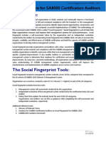 SA8000 2014 Auditor Guidance for Social Fingerprint