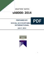SA8000 2014 Drafters Notes