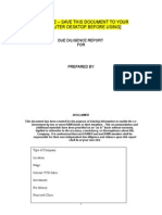 22 RAIN Standard Due Diligence Report Template Jan 09