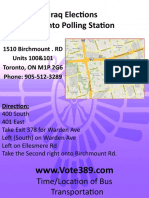 Toronto Polling Station Info