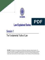 Law 01 the Fundamentals