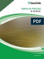 0100-C0070-0S Tarifa de Precios D-15 PVP Versión Cu Completa