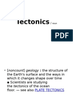 Tectonics-GRE words.ppt
