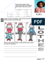Kiki Clothes Worksheet