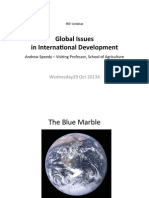 Global Issues in International Development.