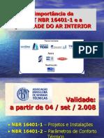 NBR 16401 1 Apresentacao