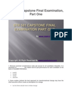 STR 581 Capstone Final Examination Part One UOP Tutorials
