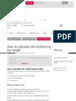Rebar Length Calculation