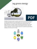 Generating Green Energy