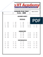 RIIT JEE PCM Test Code-ABB Answerkey & Solutions (31!05!2015)