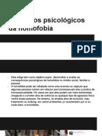 Os Efeitos Psicológicos Da Homofobia