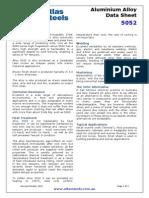 Alcoa Aluminum 5052 Data Sheet