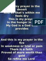 Desert Song Presentation
