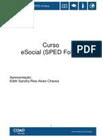 Curso ESocial - Sped Folha - Apostila PUC