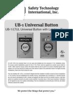 STI UB-1LTUL Instruction Manual