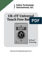 STI UB1TF Instruction Manual