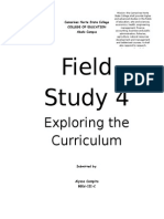 Field Study 4 Exploring the Curriculum