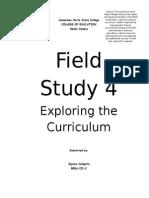 Field Study 4 Exploring the Curriculum