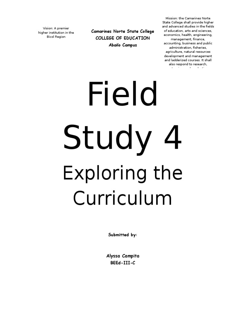 exploring the curriculum