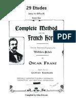 Franz 29 Etudes