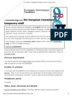 EU – DG Translation – Translating for the European Commission — Temporary Staff