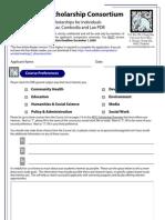 APSC Scholarship Application