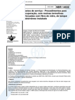 NBR 14632 - 2000 - Postos de Servico - Procedtos P Recuperacao C Resinas Termofixas Reforcadas C Fibra de Vidro de Tanque Subt Instalado