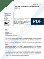 NBR 14867 - 2002 - Posto de Servico - Tubos Metalicos Flexiveis