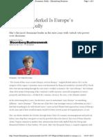 Artikel Bloomberg Merkel 090715