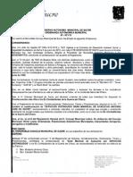 Ordenanza Municipal Autonomica Nº071/15