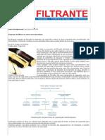 Emprego de filtros no setor sucroalcooleiro