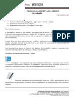 FATEC ADS 3 POO 02 Introdução à Programação Orientada a Objeto