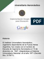 Implementación de Google Apps Para Educación