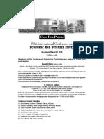 IJEB April Kolkata Conference Call for Paper