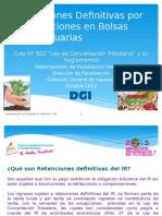 Retenciones Definitivas Por Transacciones en Bolsas Agropecuarias