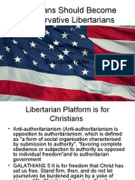 Christians Should Become Conservative Libertarians
