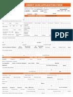 Credit Card Appln Form
