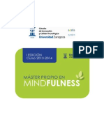 Folleto Master Mindfulness